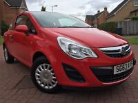 *24 MONTHS WARRANTY*ONLY 29K*2013 VAUXHALL CORSA 1.0 ECO FLEX 3DR IN IMMACULATE CONDITION*