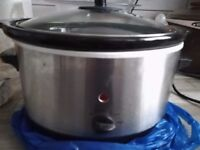Tesco Electric Slow Cooker - Stainless Steel