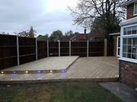 decking, shed, gazebo, pergola, decking light installation, fences
