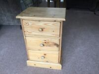 Bedside drawers - rustic pine