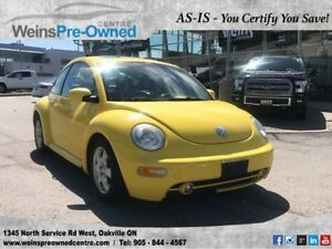 2002 Volkswagen Beetle GLS l SOLD AS IS l YOU CERTIFY YOU SAVE l