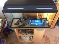 Fish Tank 90 litres + stand + all accessories