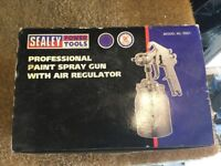 Sealey SSG1 Spray Gun Suction Deluxe Professional
