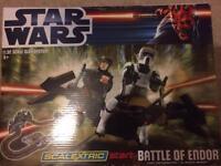 Star Wars battle of Endor Scalextric set