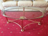 REDUCED PRICE Gold matching coffee tables-Perfect condition