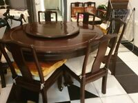 Solid Hardwood Dining Table & 8 Chairs