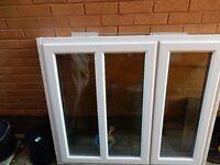 White UPVC double-glazed window
