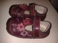 9 pairs of girl's shoes sizes 4-8.