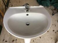 Basin with Single Pillar Tap