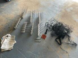 Bird spikes and netting