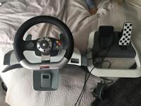Official Microsoft Xbox360 Steering Wheel + Pedals