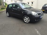 2005 RENAULT CLIO 1.2 PETROL 3 DOORS // ONLY DONE 41K -- MOT TILL APRIL 2017-- NO ADVISORY