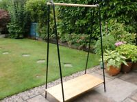 Freestanding Clothes Rail/Hanger with shoe shelf - SOLD