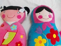 Cushion Russian Doll & China Doll Like New Excellent Condtion Debenham