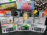 New toasters kettles microwave oven iron