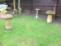Pair of Old Sandstone Staddle Stones