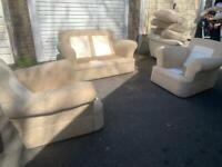 Fabulous fabric 2 seaters sofa and 2 armchairs