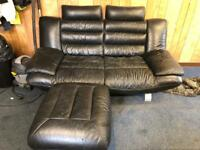 2/3 seater and armchair with footstool.