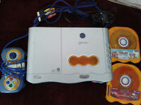 V Tech V Smile TV 3D Learning System With 1 Controller, 2 Games & Leads.