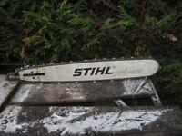 Stihl chain bar and chain