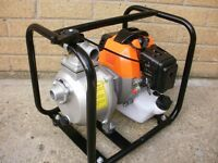 2-Stroke Mini Petrol Water Pump fish pond pool sprayer wiper tank flood horse 4 donkey submersible
