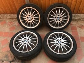 "18"" BMW BREYTON STYLE ALLOY WHEELS WITH GOOD TYRES PCD 5x120"