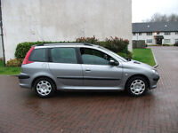 peugeot 206 estate 1360 cc mot sep 17 £525