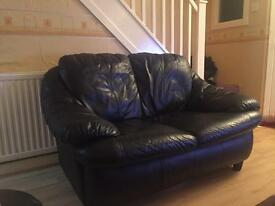 2 Seater soft leather sofa - in used condition