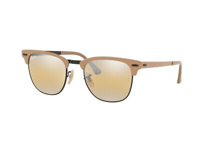Sonnenbrille Ray Ban clubmaster Metall RB3716 Hellbraun gelb spec9157A