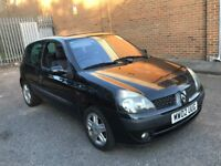 2002 RENAULT CLIO 1.2 DYNAMIQUE PETROL MANUAL 3 DOOR HATCHBACK 5 SEAT CHEAP INSURANCE N CORSA POLO