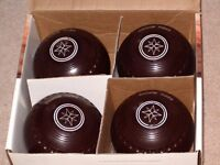 Set of 4 Drakes Pride Professional Bowls size 4 Heavy, Brown - will post on equest
