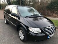 CHRYSLER GRAND VOYAGER 55 REG 7 SEATER IN BLACK WITH GREY LEATHER, SERVICE HISTORY,MOT MARCH 2019