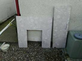 Fire place marble surround and plinth