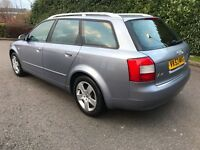 2003 AUDI A4 AVANT ESTATE 1.9 TDI SE 130bhp ONLY 134k