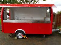 Mobile Catering Trailer Burger Van Hot Dog Food Cart 3000x1650x2300