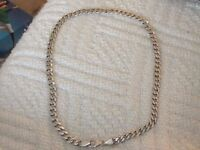 Sterling silver mans chain necklace 50 grams. 20inches.