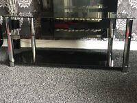Large Glass tv unit £25