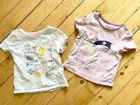 Two Marks & Spencer's girls' t-shirts (size 3-4 years)