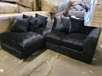 VELVET SOFA CRUSH VELVET CORNER OR 3+2 SEATER SOFA SET AVAILABLE IN STOCK