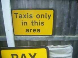 Sign ideal for Man cave Taxis workshop