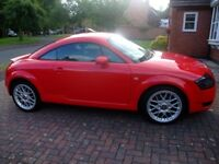 AUDI TT 1.8 COUPE, 2004, LOW MILEAGE IN STUNNING MISANO RED WITH UPGRADED BBS ALLOYS!