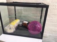 Hamster/guinepig glass cage
