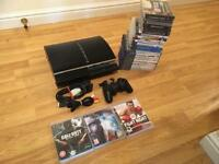 60gb PS3 Console (Plays PS2 & PS1 Games) Complete With 25 Games £60 no offers