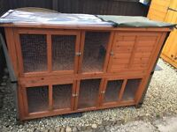 Pets at home rabbit hutch for sale with cover.