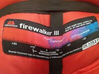 Mountain Equipment Firewalker III Sleeping Bag for Hiking, Trekking, Camping