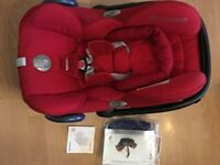 Excellent condition Maxi Cosi Cabriofix Group 0+ Baby Car Seat