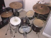 Junior Drum Kit with Stagg Pro Cymbals