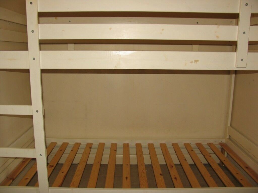 Ikea Mydal Bunk Bed Frame 90 X 200 Cm White And 1 X Spring Matress
