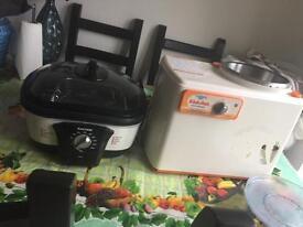 Fryer and mixer
