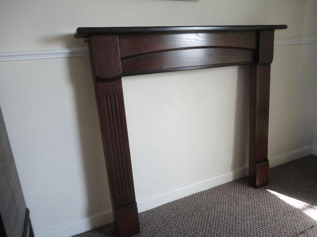 B & Q - Oak Veneer Fireplace Surround ex condition - flat pack ...